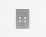SOIC-16 (1.27 mm pitch, 300 mil body) Stainless Steel Stencil