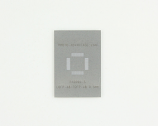 TQFP-48 (0.5 mm pitch, 7 x 7 mm body) Stainless Steel Stencil