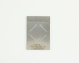 TQFP-80 (0.5 mm pitch, 12 x 12 mm body) Stainless Steel Stencil