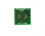 SSOP-14 to DIP-14 SMT Adapter (0.65 mm pitch)