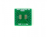 TSSOP-14 to DIP-14 SMT Adapter (0.65 mm pitch)