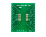 VSOP-24 to DIP-24 SMT Adapter (0.65 mm pitch, 5.6 mm body)