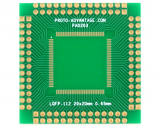 LQFP-112 to PGA-112 Adapter (0.65 mm pitch, 20 x 20 mm body)
