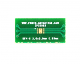 DFN-6 to DIP-10 SMT Adapter (0.95 mm pitch, 3.0 x 3.0 mm body)