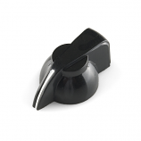 Black Chicken Head Knob - 14x20mm