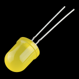 Diffused LED - Yellow 10mm