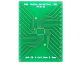 LGA-28 to DIP-28 SMT Adapter (0.5 mm pitch, 4.0 x 5.0 mm body)
