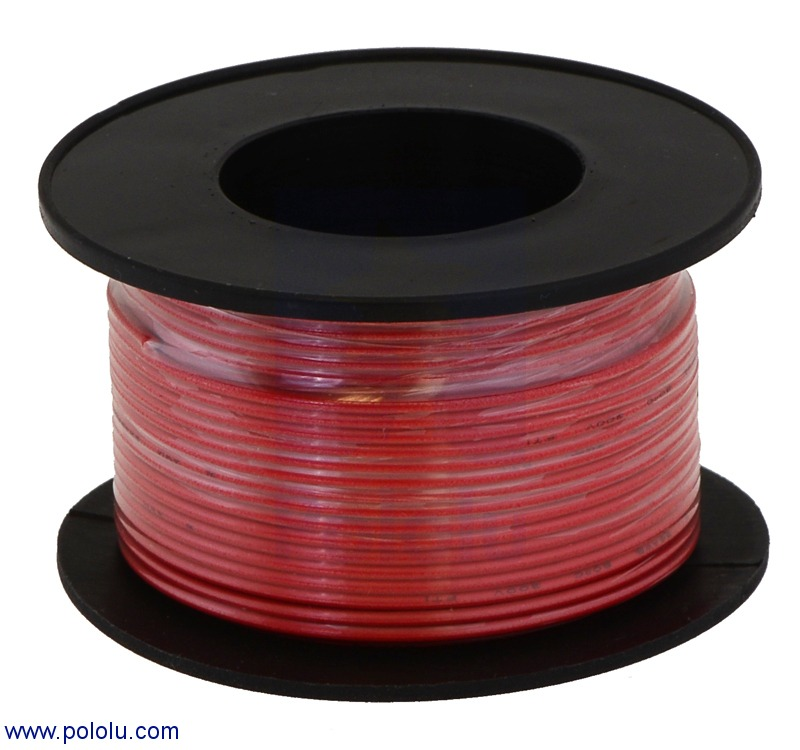 Stranded Wire: Red, 24 AWG, 60 Feet