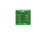 SOIC-14 to DIP-14 SMT Adapter (1.27 mm pitch, 300 mil body)