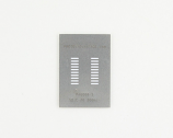 SOIC-20 (1.27 mm pitch, 300 mil body) Stainless Steel Stencil