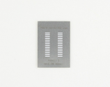 SOIC-28 (1.27 mm pitch, 300 mil body) Stainless Steel Stencil
