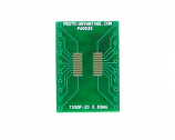 TSSOP-20 to DIP-20 SMT Adapter (0.65 mm pitch)