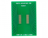 VSOP-28 to DIP-28 SMT Adapter (0.65 mm pitch, 5.6 mm body)