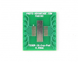 TSSOP-16-Exp-Pad to DIP-16 SMT Adapter (0.65 mm pitch)