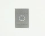 QFN-28 (0.8 mm pitch, 7 x 7 mm body) Stainless Steel Stencil
