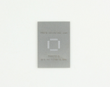 QFN-44 (0.5 mm pitch, 7 x 7 mm body) Stainless Steel Stencil