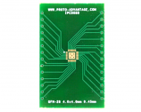 QFN-28 to DIP-32 SMT Adapter (0.45 mm pitch, 4.0 x 4.0 mm body, 2.4 x 2.4 mm pad