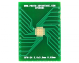 QFN-24 to DIP-28 SMT Adapter (0.65 mm pitch, 5.0 x 5.0 mm body, 3.6 x 3.6 mm pad