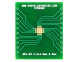 QFN-20 to DIP-24 SMT Adapter (0.5 mm pitch, 4.0 x 4.0 mm body, 2.5 x 2.5 mm pad)