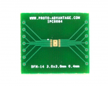 DFN-14 to DIP-18 SMT Adapter (0.4 mm pitch, 3.0 x 3.0 mm body)