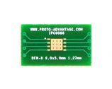 DFN-8 to DIP-12 SMT Adapter (1.27 mm pitch, 6.0 x 5.0 mm body)
