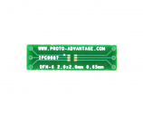 DFN-6 to DIP-6 SMT Adapter (0.65 mm pitch, 2.0 x 2.0 mm body)