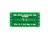 DFN-10 to DIP-10 SMT Adapter (0.4 mm pitch, 2.0 x 2.0 mm body)