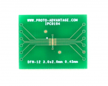 DFN-12 to DIP-16 SMT Adapter (0.45 mm pitch, 3.0 x 2.0 mm body)