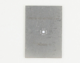 QFN-12 (0.8 mm pitch, 4 x 4 mm body, 2.1 x 2.1 mm pad) Stainless Steel Stencil