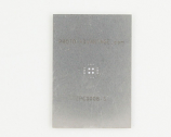 QFN-16 (0.5 mm pitch, 4 x 4 mm body, 2.4 x 2.4 mm pad) Stainless Steel Stencil
