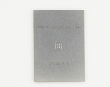 QFN-20 (0.5 mm pitch, 3 x 4 mm body, 1.65 x 2.65 mm pad) Stainless Steel Stencil