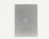 QFN-20 (0.5 mm pitch, 4 x 4 mm body, 2.1 x 2.1 mm pad) Stainless Steel Stencil
