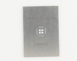QFN-20 (0.8 mm pitch, 6 x 6 mm body, 3.4 x 3.4 mm pad) Stainless Steel Stencil