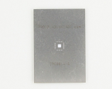 QFN-24 (0.5 mm pitch, 4 x 4 mm body, 2.1 x 2.1 mm pad) Stainless Steel Stencil