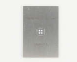 QFN-28 (0.5 mm pitch, 5 x 5 mm body, 3.1 x 3.1 mm pad) Stainless Steel Stencil
