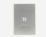QFN-36 (0.5 mm pitch, 6 x 6 mm body, 4.1 x 4.1 mm pad) Stainless Steel Stencil