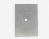 QFN-44 (0.5 mm pitch, 7 x 7 mm body, 3.3 x 3.3 mm pad) Stainless Steel Stencil