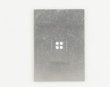 QFN-48 (0.5 mm pitch, 7 x 7 mm body, 4 x 4 mm pad) Stainless Steel Stencil