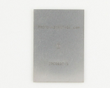 QFN-12 (0.4 mm pitch, 2.2 x 1.4 mm body) Stainless Steel Stencil