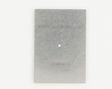 QFN-12 (0.5 mm pitch, 3 x 3 mm body, 1.7 x 1.7 mm pad) Stainless Steel Stencil