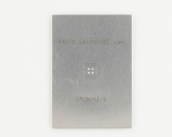 QFN-28 (0.4 mm pitch, 4 x 4 mm body, 2.4 x 2.4 mm pad) Stainless Steel Stencil
