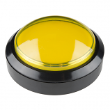 Big Dome Push Button - Yellow (Economy)