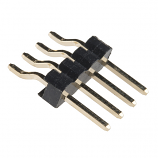 "Header - 4-pin Male (SMD, 0.1"", Right Angle)"