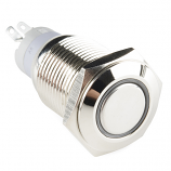 Metal Pushbutton - Latching (16mm, White)