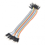 "Jumper Wires - Connected 6"" (M/M, 20 pack)"