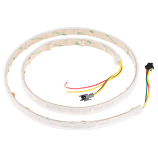White Tri-Color LED Strip - Addressable, Sealed (1m)