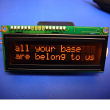 Basic 16x2 Character LCD - Amber on Black 3.3V