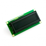 Serial Enabled 16x2 LCD - Black on Green 3.3V