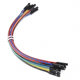 "Jumper Wires Premium 6"" F/F - 20 AWG (10 Pack)"
