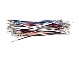 Wires with Pre-crimped Terminals 50-Piece Assortment Female-Female 6""